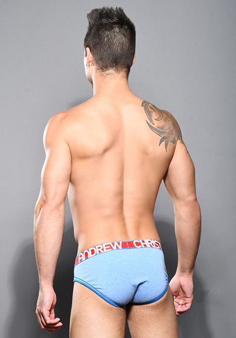 Andrew Christian Almost Naked Cotton Brief   Athletic Blue