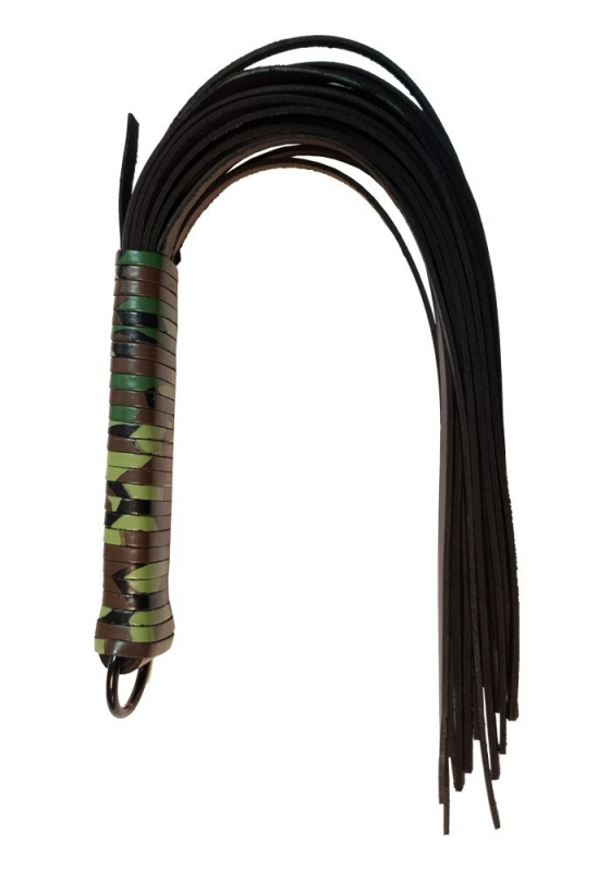 Rouge RSF1031CA camo Spiral Lederpeitsche Ledergriff