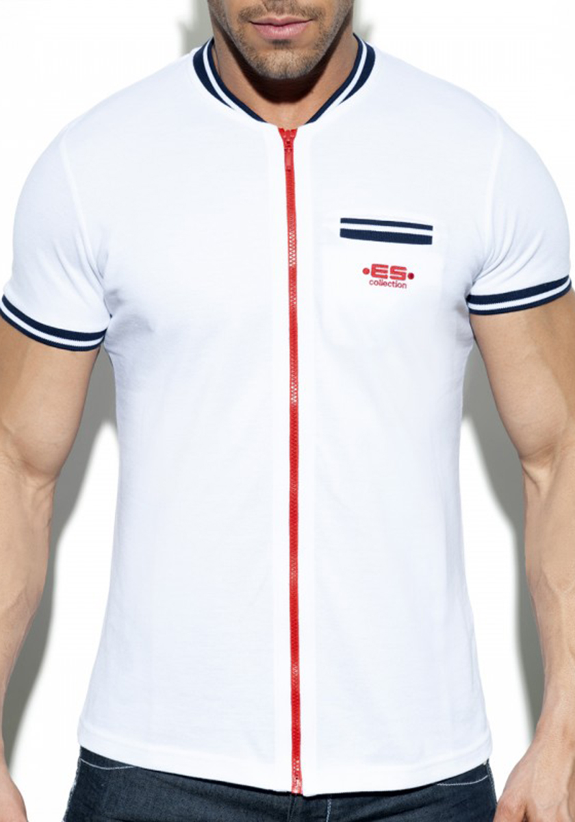 POLO30 Full Zip Mao Polo | White