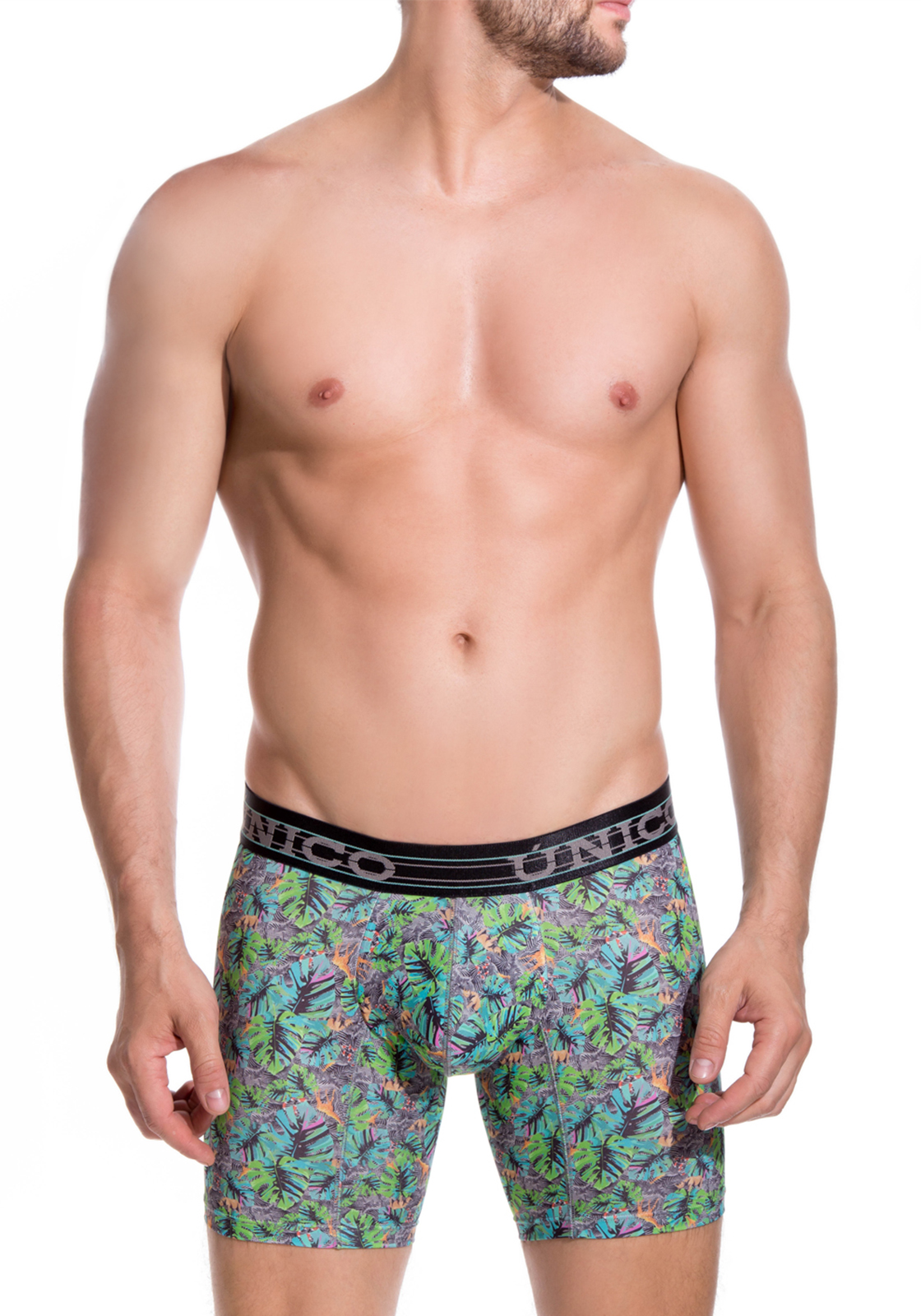 Mundo Unico print M Boxer Cup Long Leg Nature