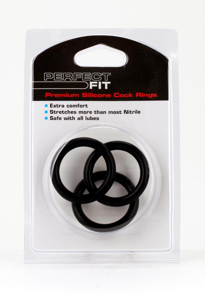 Perfect Fit Premium Silicone Cock Ring 3er Set