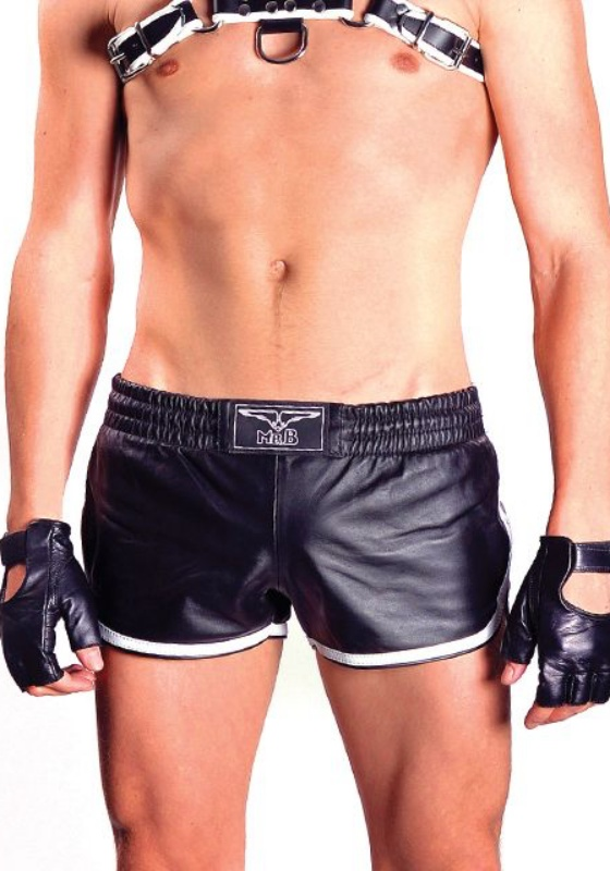 Mr. B: 150601 black XS Leder Sport Shorts