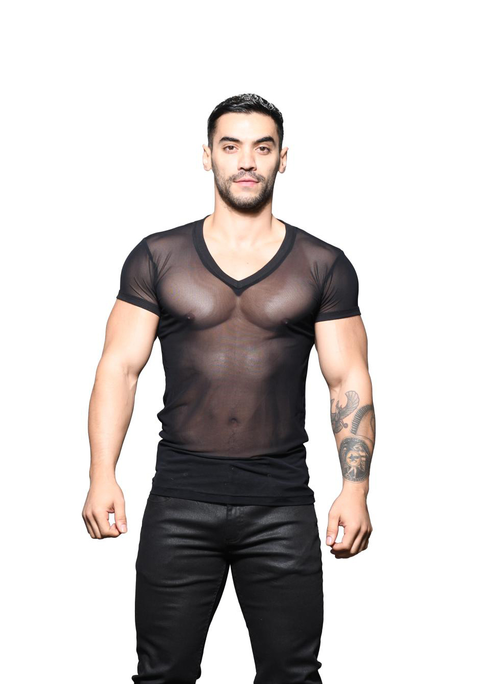 Andrew Christian Sexy Sheer V-Neck Tee