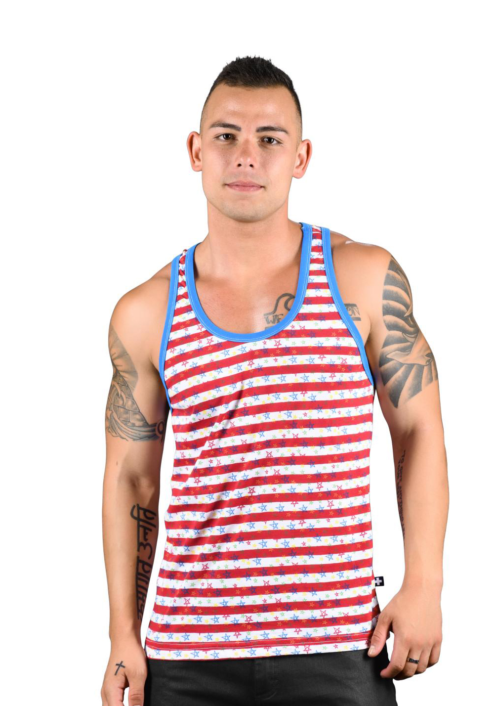 Andrew Christian Stars & Stripes Racer Back Tank