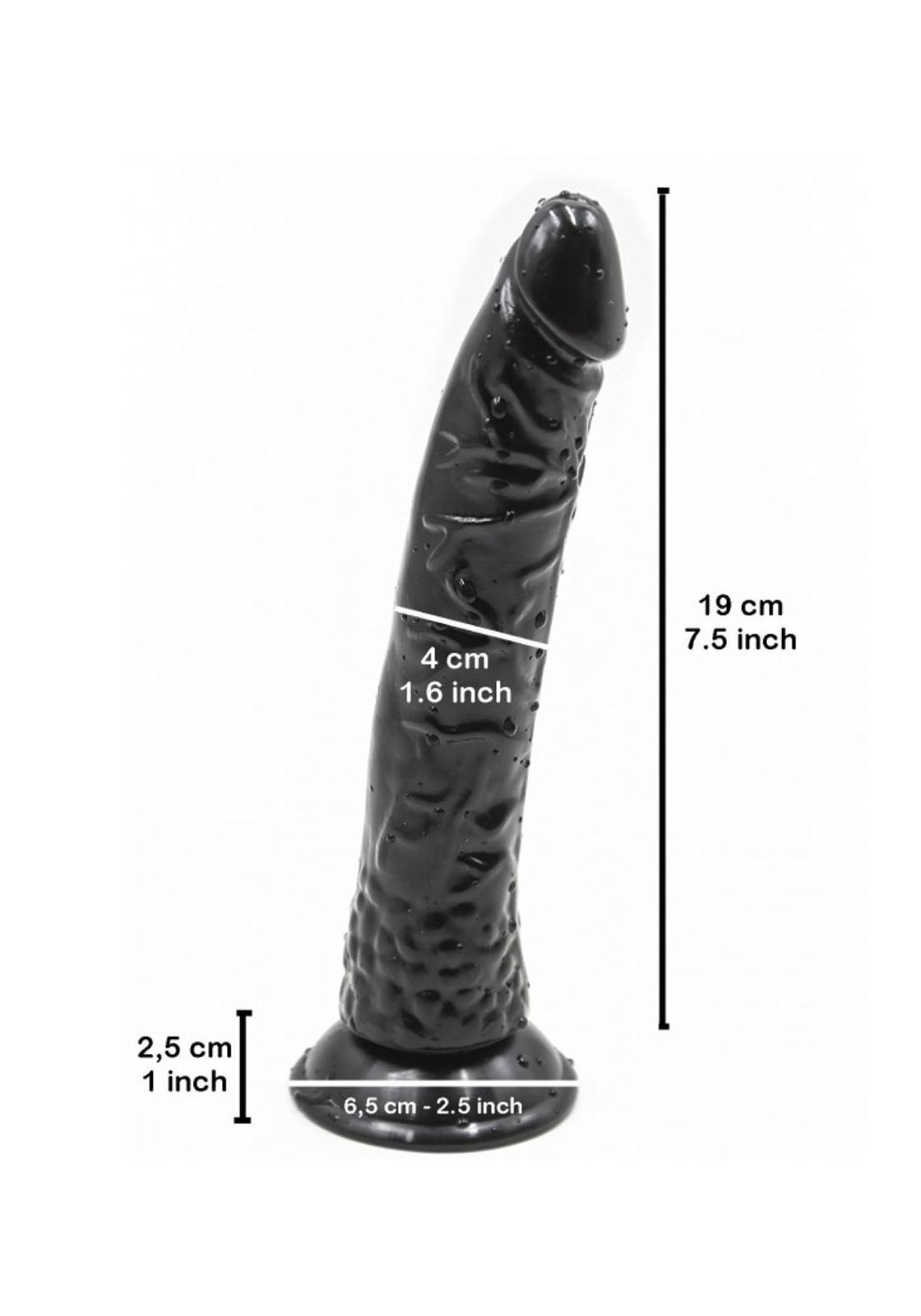 Rude Rider: Long Black Rider Dildo 19 x 4 cm