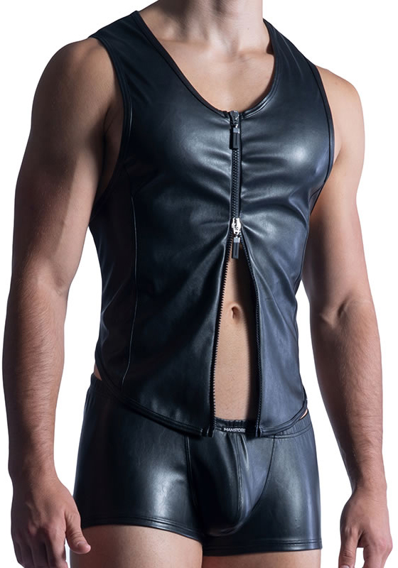 MS M854 black L Zipped Vest