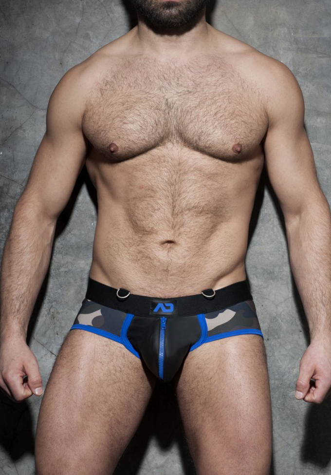 Addicted F66 Zipper Camo Brief