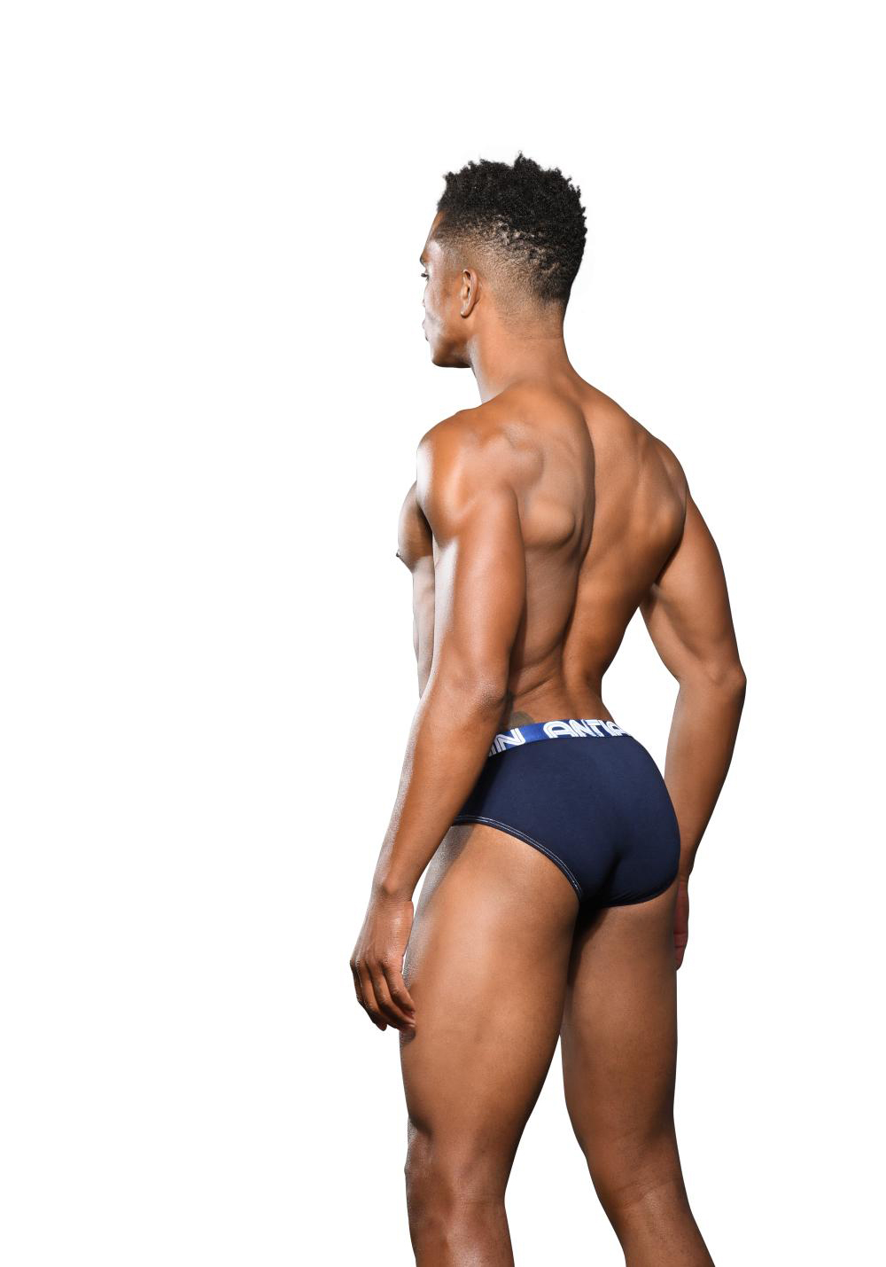 Andrew Christian Happy Brief Almost Naked | Navy