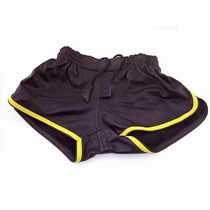 RO RST1091BKBY32 blk/yel 32 Leder Shorts