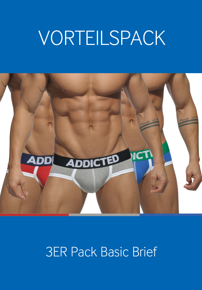 Addicted 3er Pack Basic Brief