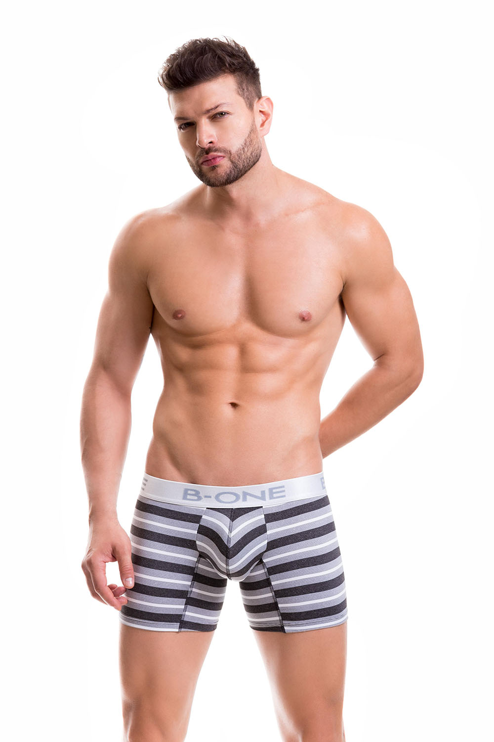 B-ONE 0005-1 grey M Long Boxer Clinton