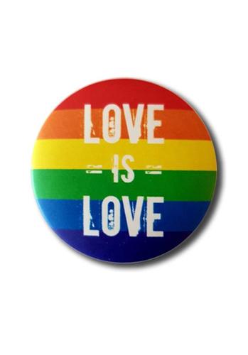 "Regenbogen Button ""Love is Love"""