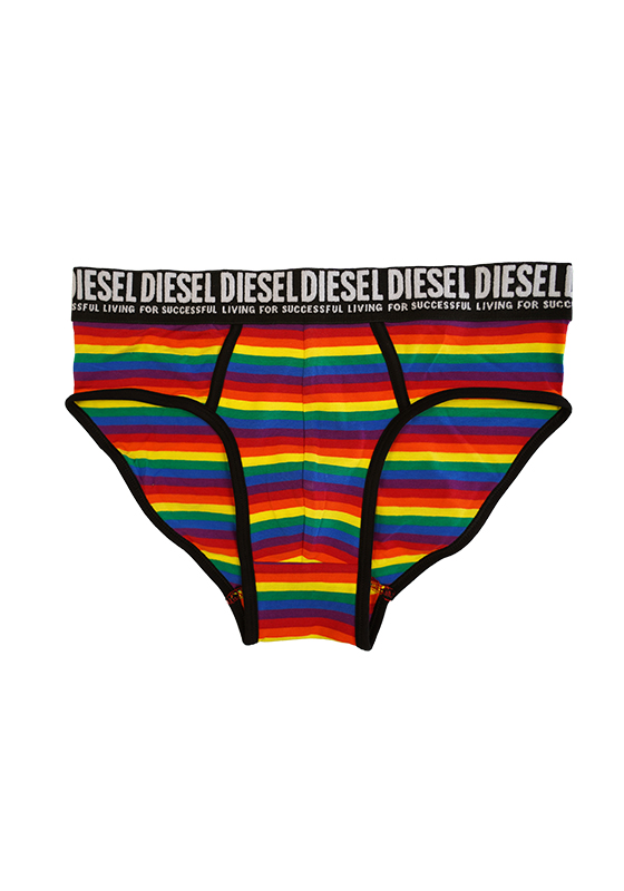 Diesel Black Blue Rainbow UMBR-ANDRE-20 Brief 3-Pack