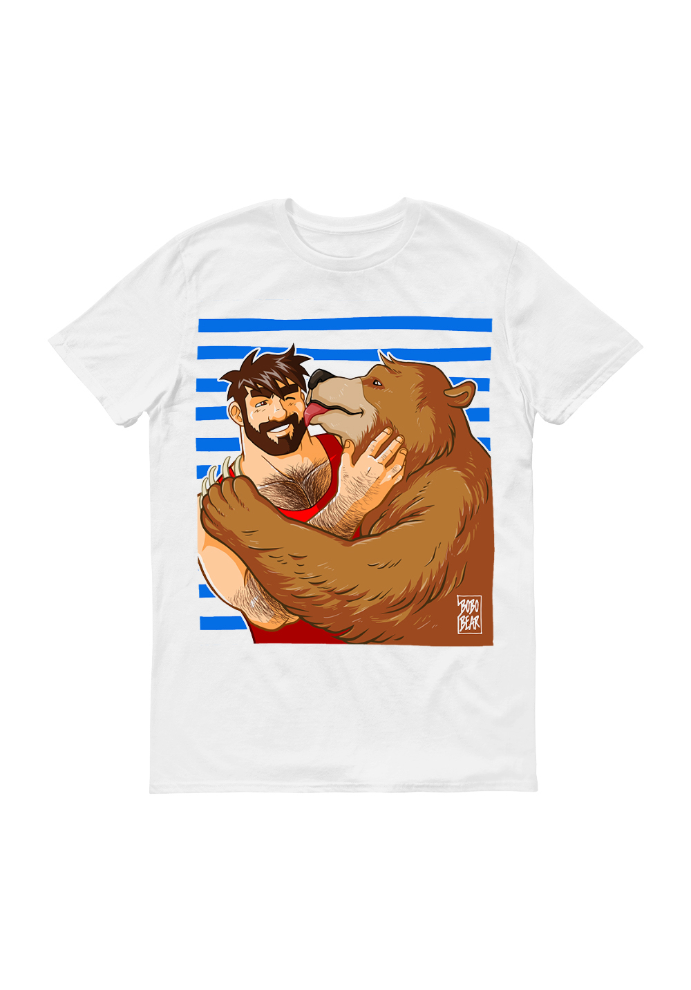 Bobo Bear Shirt Bear Kiss Sailor Stripes
