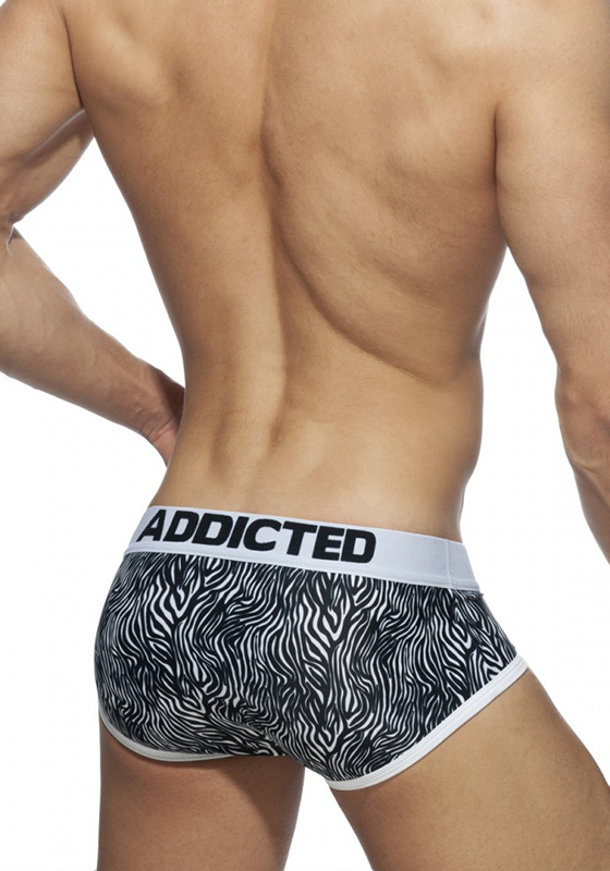 Addicted Black Zebra Swimderwear Brief