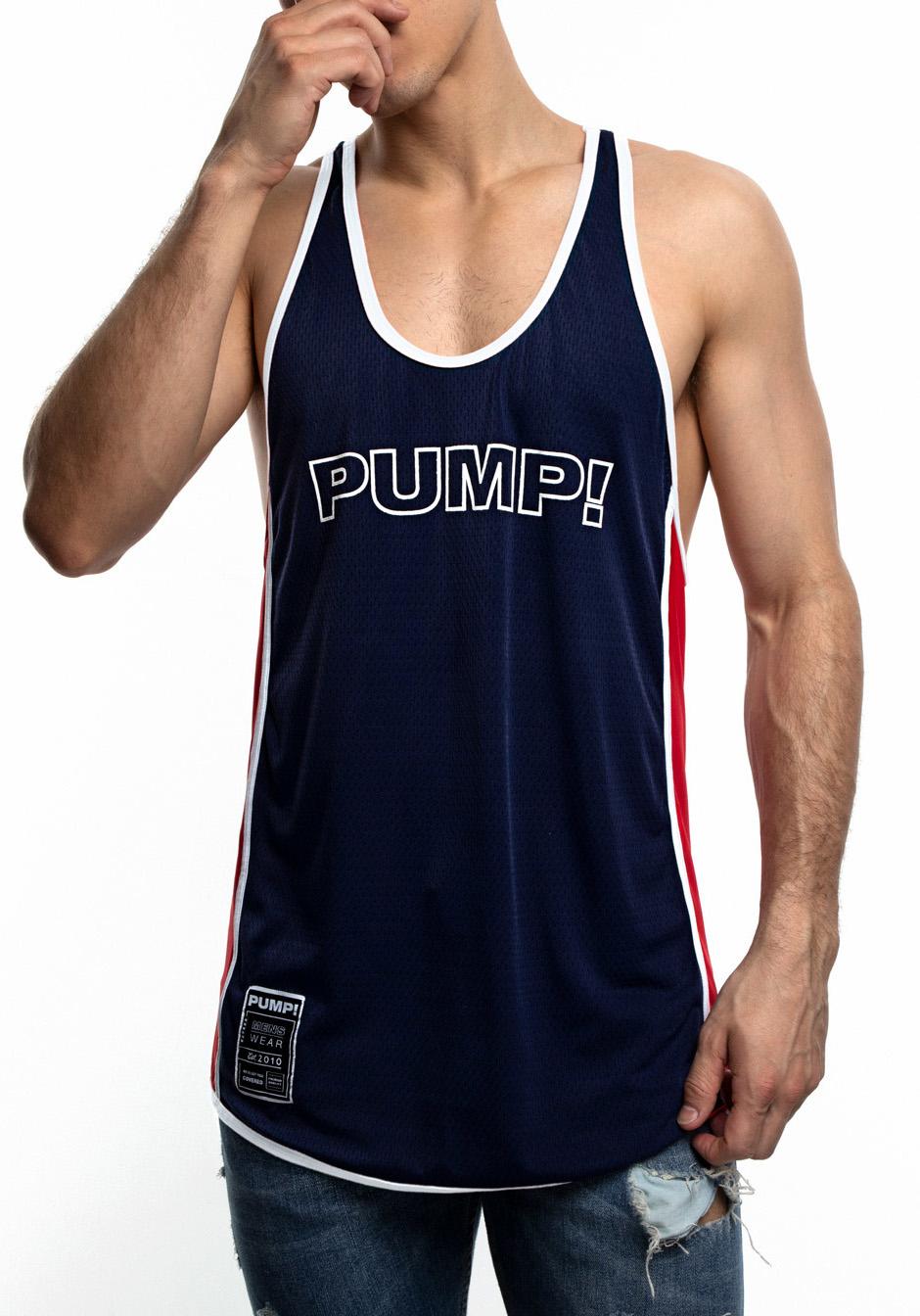 PUMP! Academy deep Tank | navy/white/red