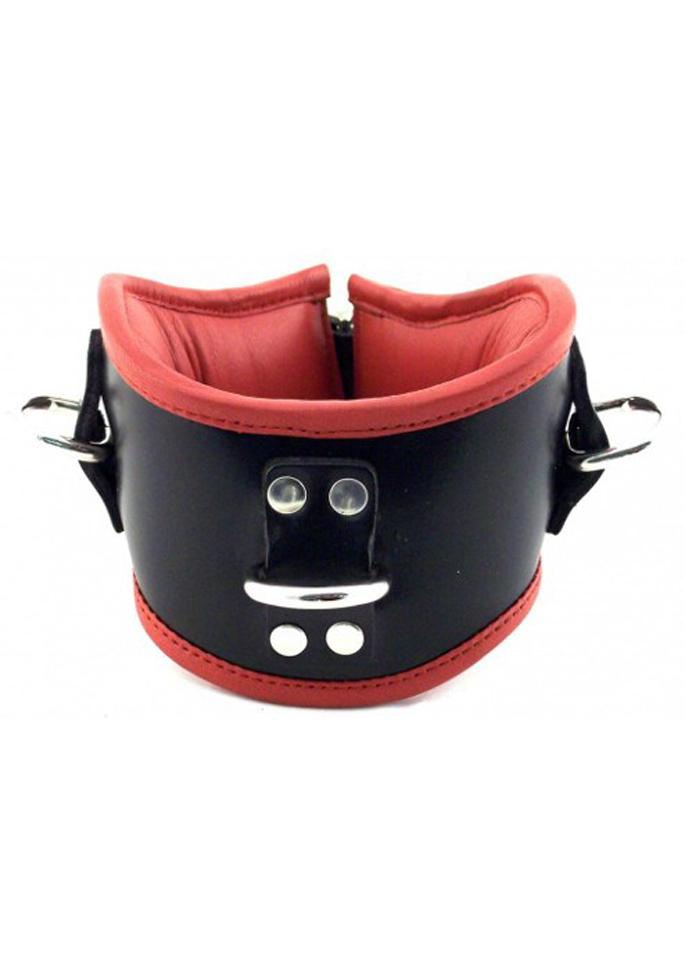 Rouge Leder Bondage-Halskrause