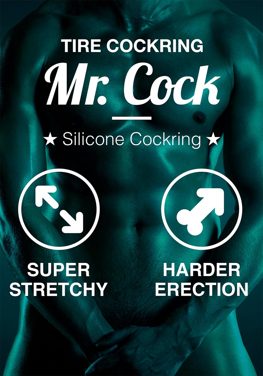 Mr. Cock: Tire Silicone Cockring | Black