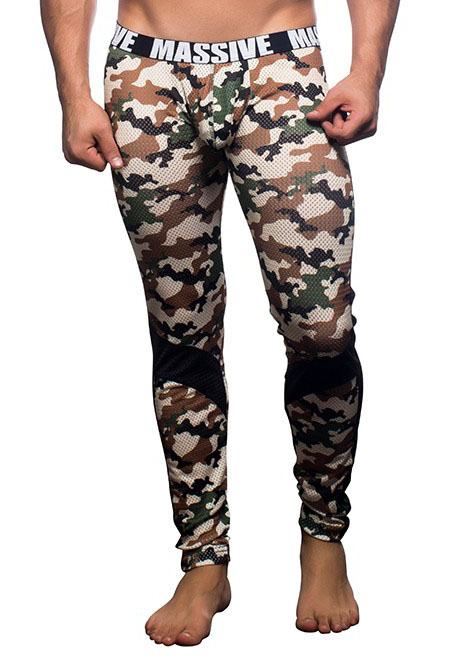 Andrew Christian MASSIVE Camouflage Mesh Legging