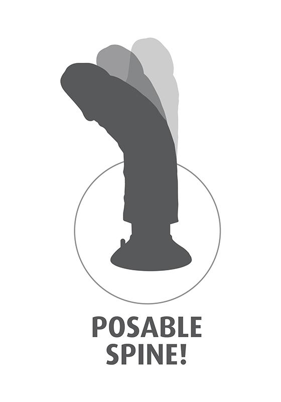 King Cock: Dildo flesh Vibrating 8''/ 15,2 x 5 cm