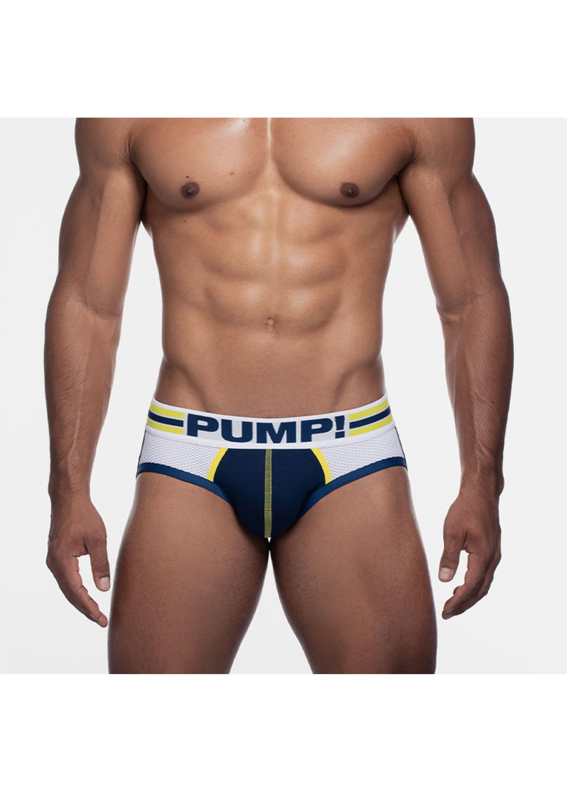 PUMP! Recharge Sportboy Jock | Navy/White/Yellow