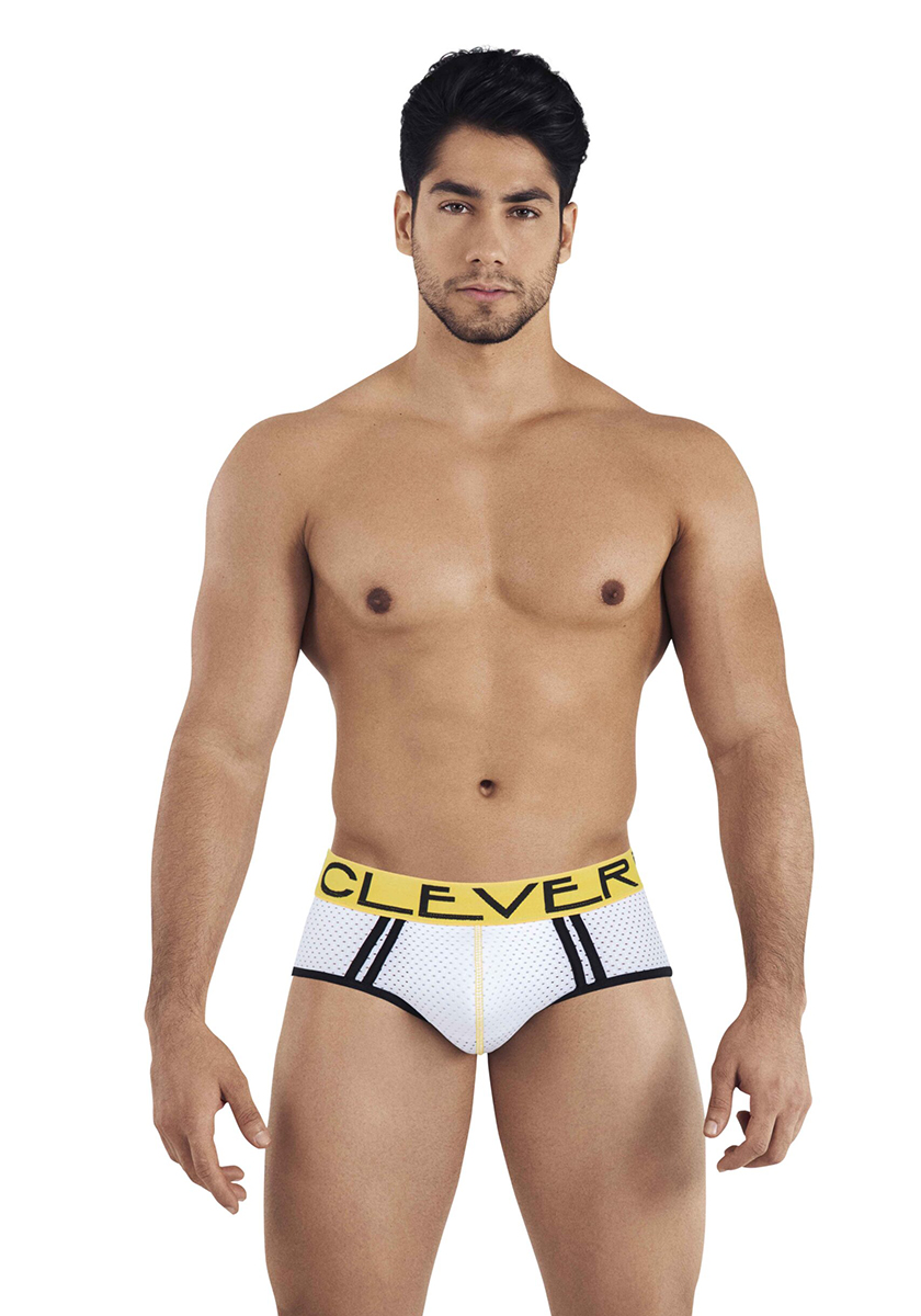 Clever Brasilea Piping Brief | White