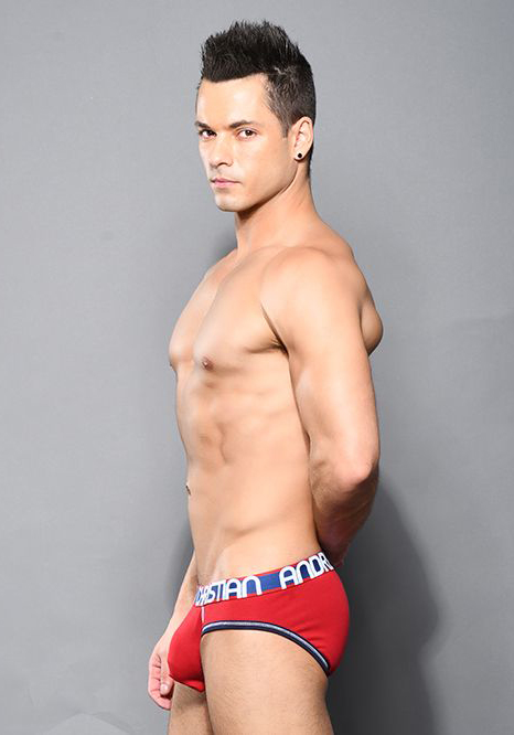 Andrew Christian Almost Naked Cotton Brief | Red