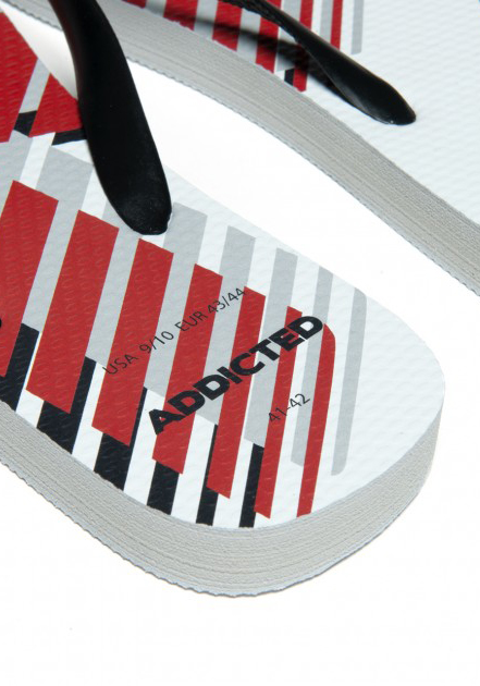 ADDICTED 796 AD Logo Flip Flop