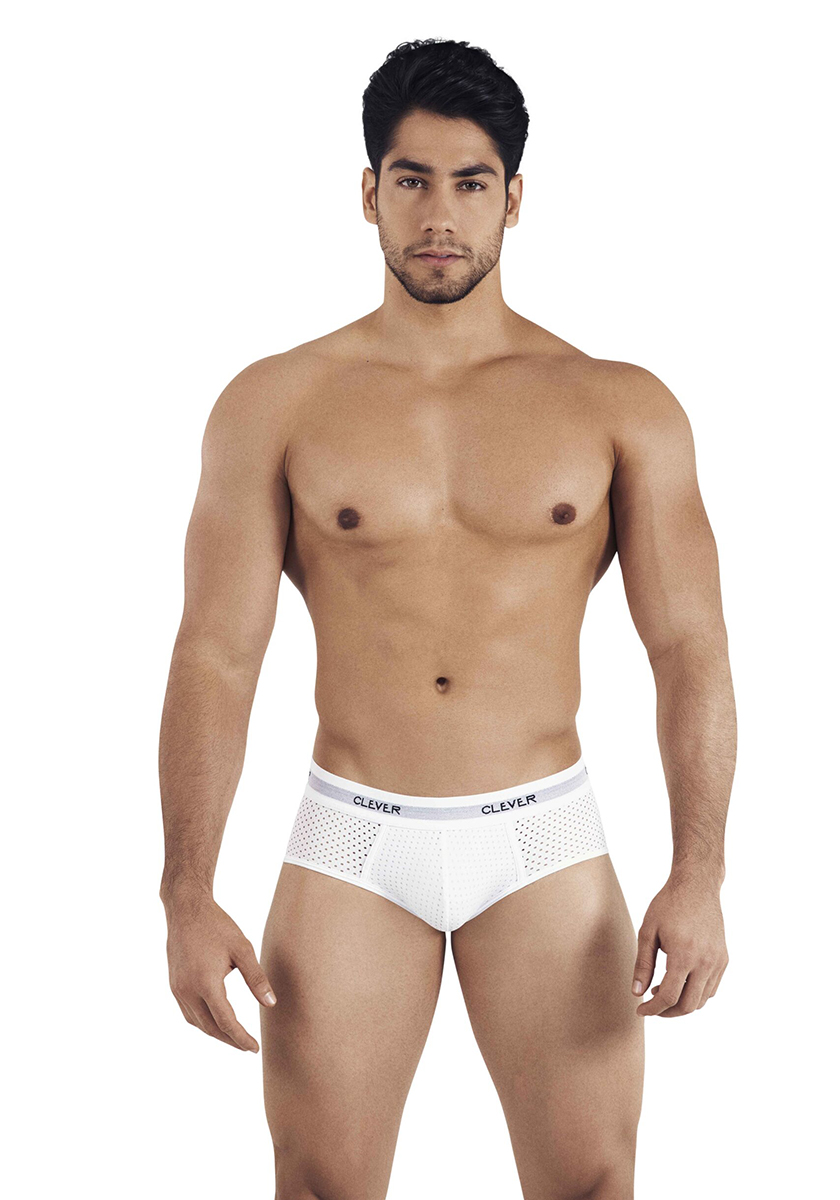 Clever Alaska Piping Brief | White