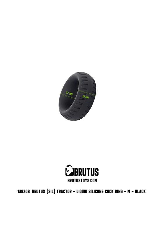 Brutus: Tractor Liquid Silicone Cock Ring M