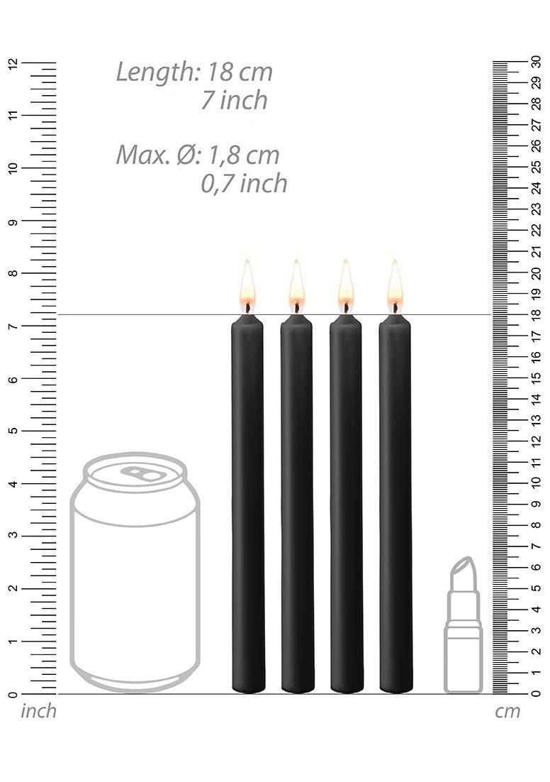 Wax Play Kerze Large 4-Pack black
