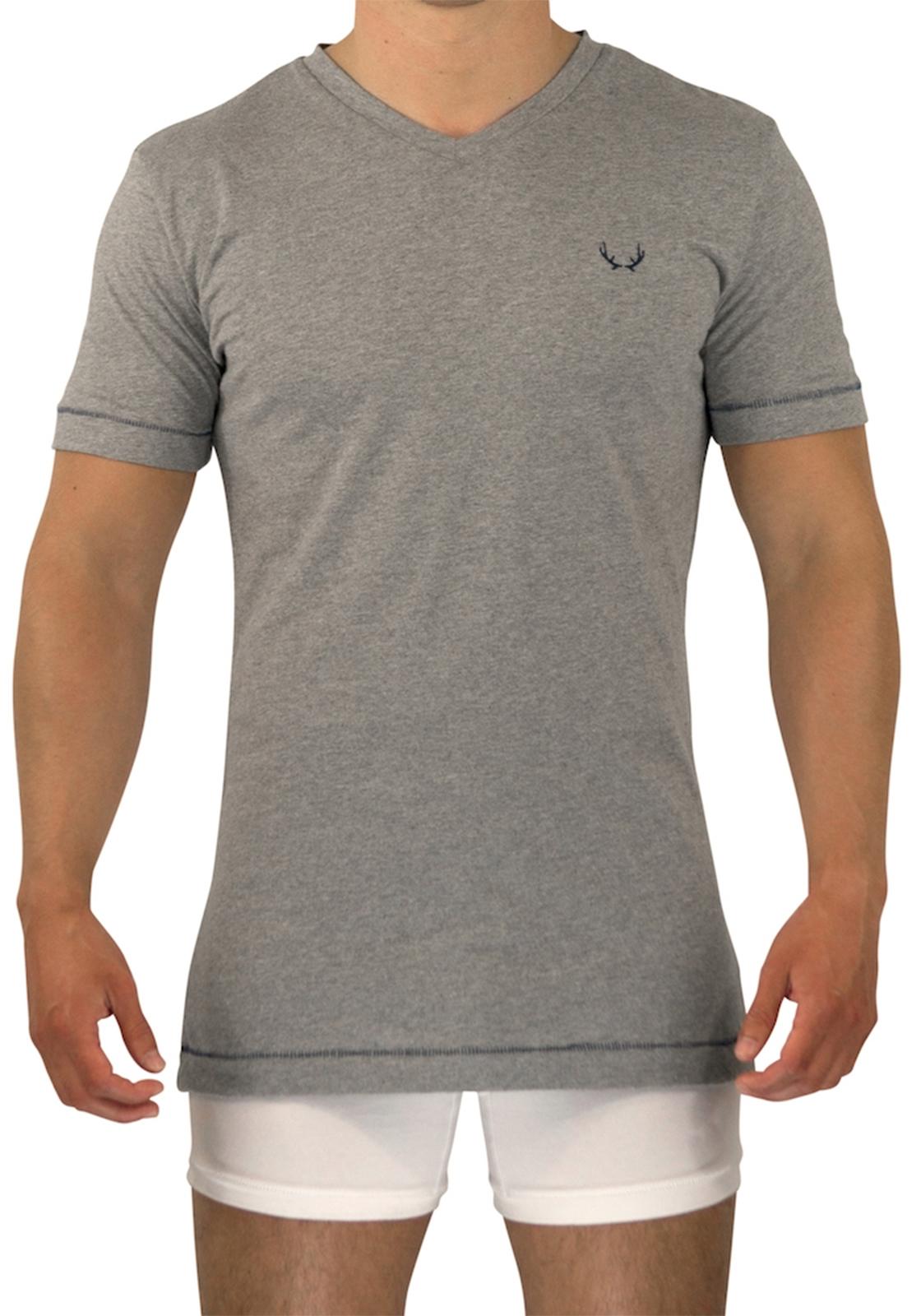 Bluebuck T-Shirt V-Neck | Grey