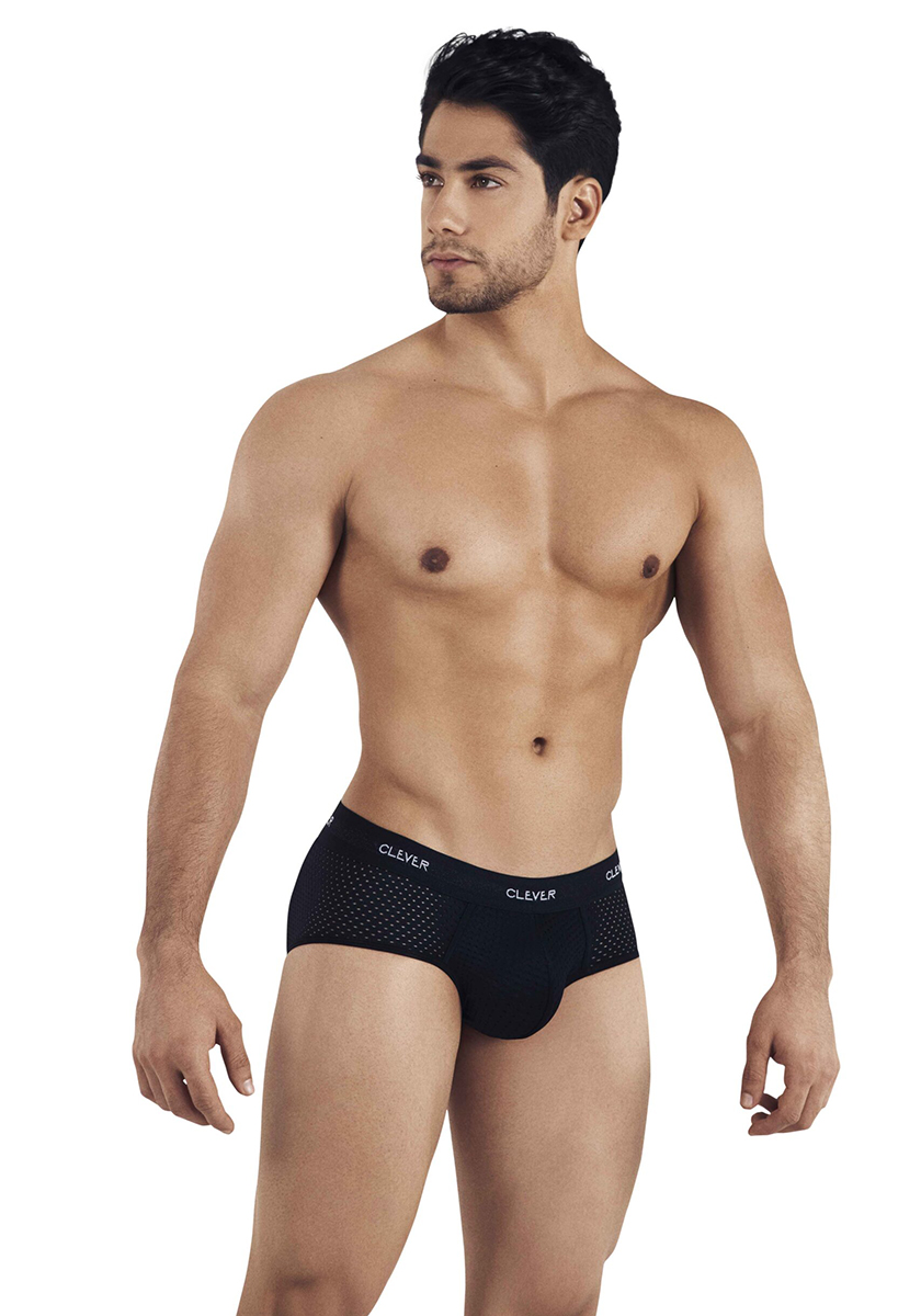 Clever Alaska Piping Brief | Black