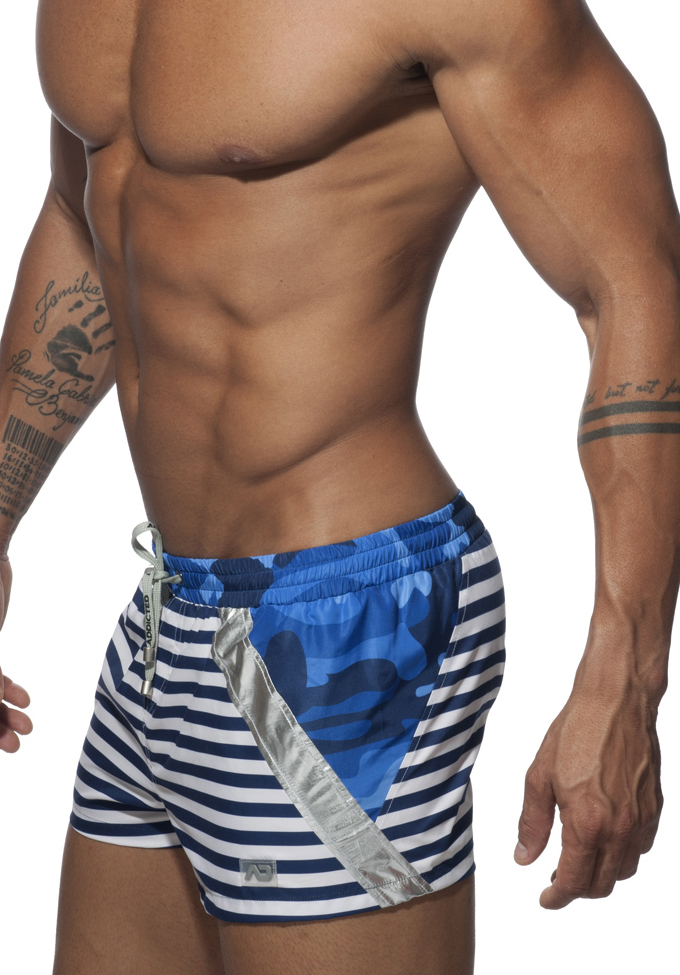 ADDICTED Metal Sailor Swim Short
