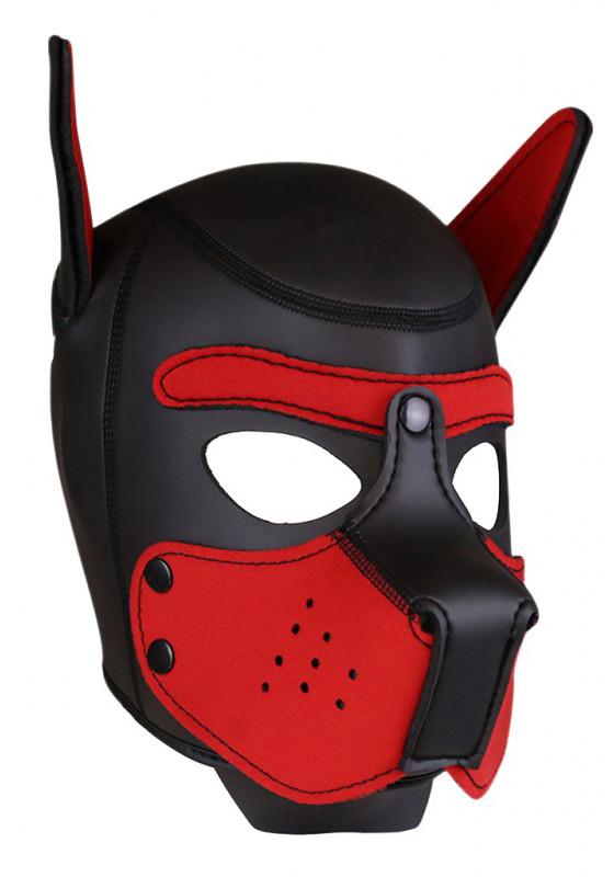 Rude Rider Neopren Puppy Maske Rot