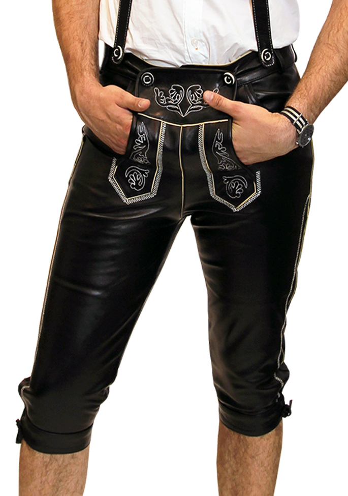 Bockle Bavaria Gay Black Lederhose
