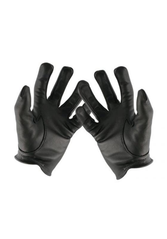 Mr. B: blk Leder Handschuhe Gloves Police