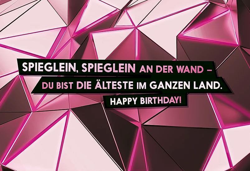FckYouCards: Du bist die Älteste. Happy Birthday!