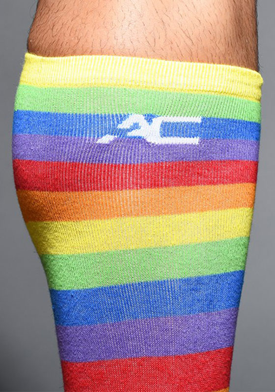 Andrew Christian Pride Stripe Socks