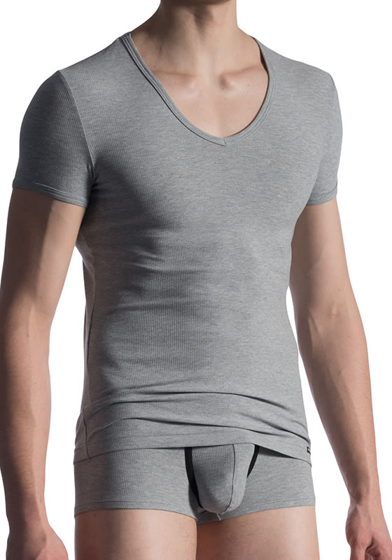 MS M811 grey M V-Neck Tee low