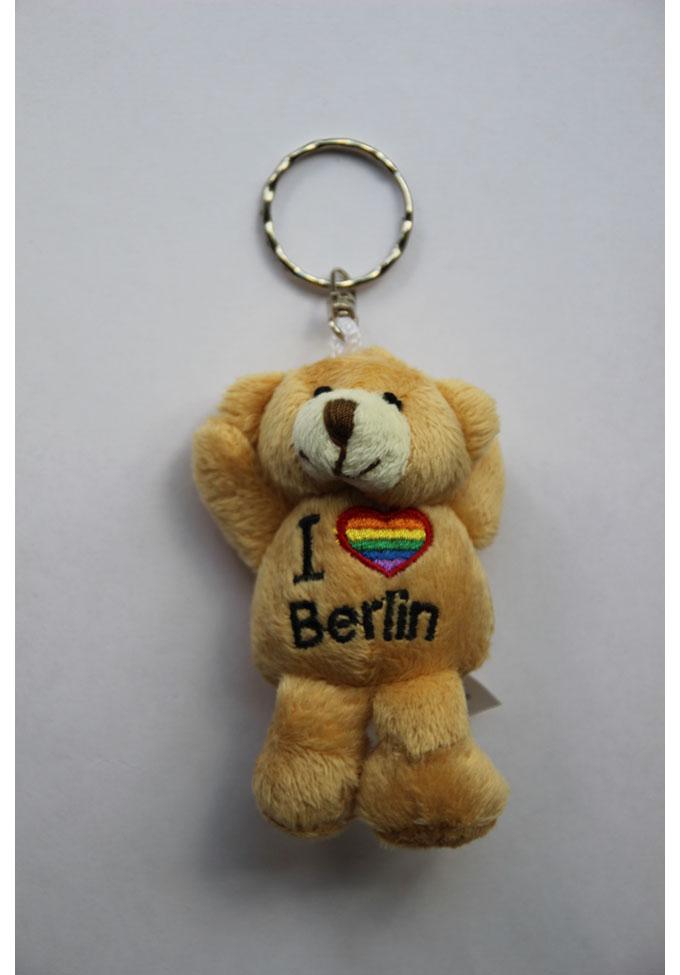 Regenbogen Schlüsselband 'I love Berlin'