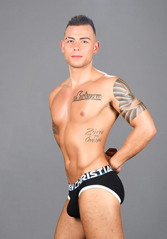 Andrew Christian Black Almost Naked Cotton Brief