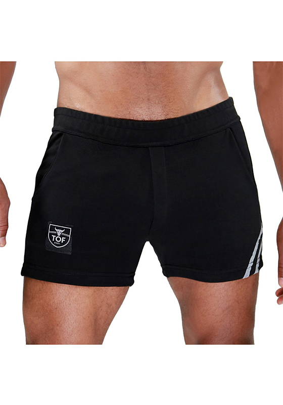 TOF SH0009NG Black-Grey Paris Shorts
