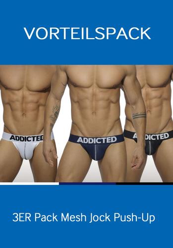 Addicted AD479 3 Pack Mesh Jock Push Up