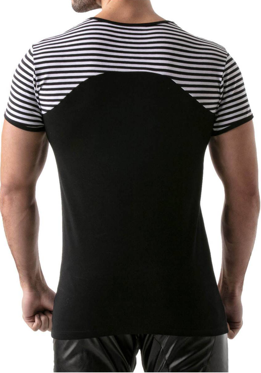 TOF T-Shirt Navy Stripes | Black