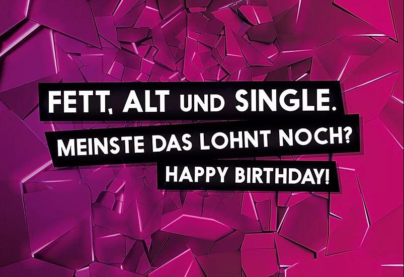 FckYouCards: Fett, Alt und Single. Happy Birthday!