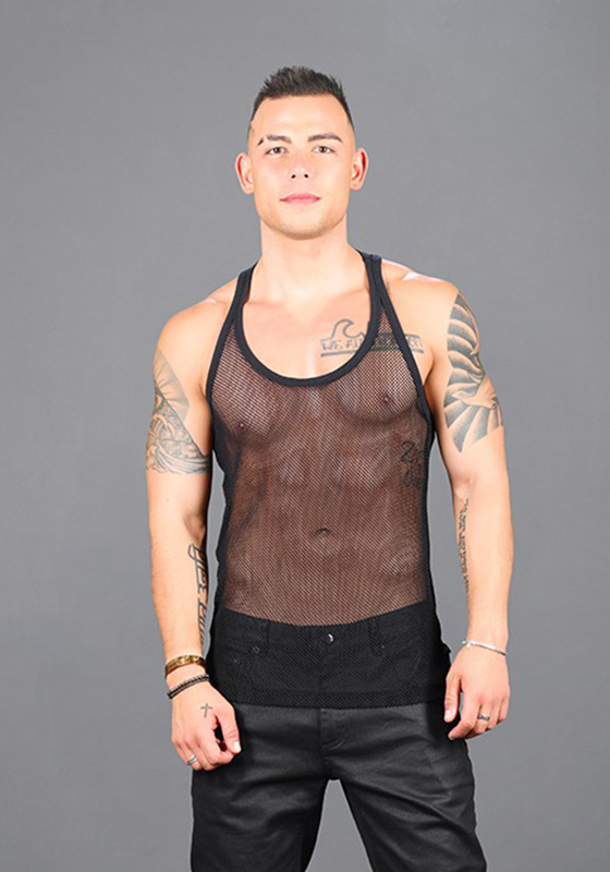 Andrew Christian 2770 Club Mesh Racer Back Tank