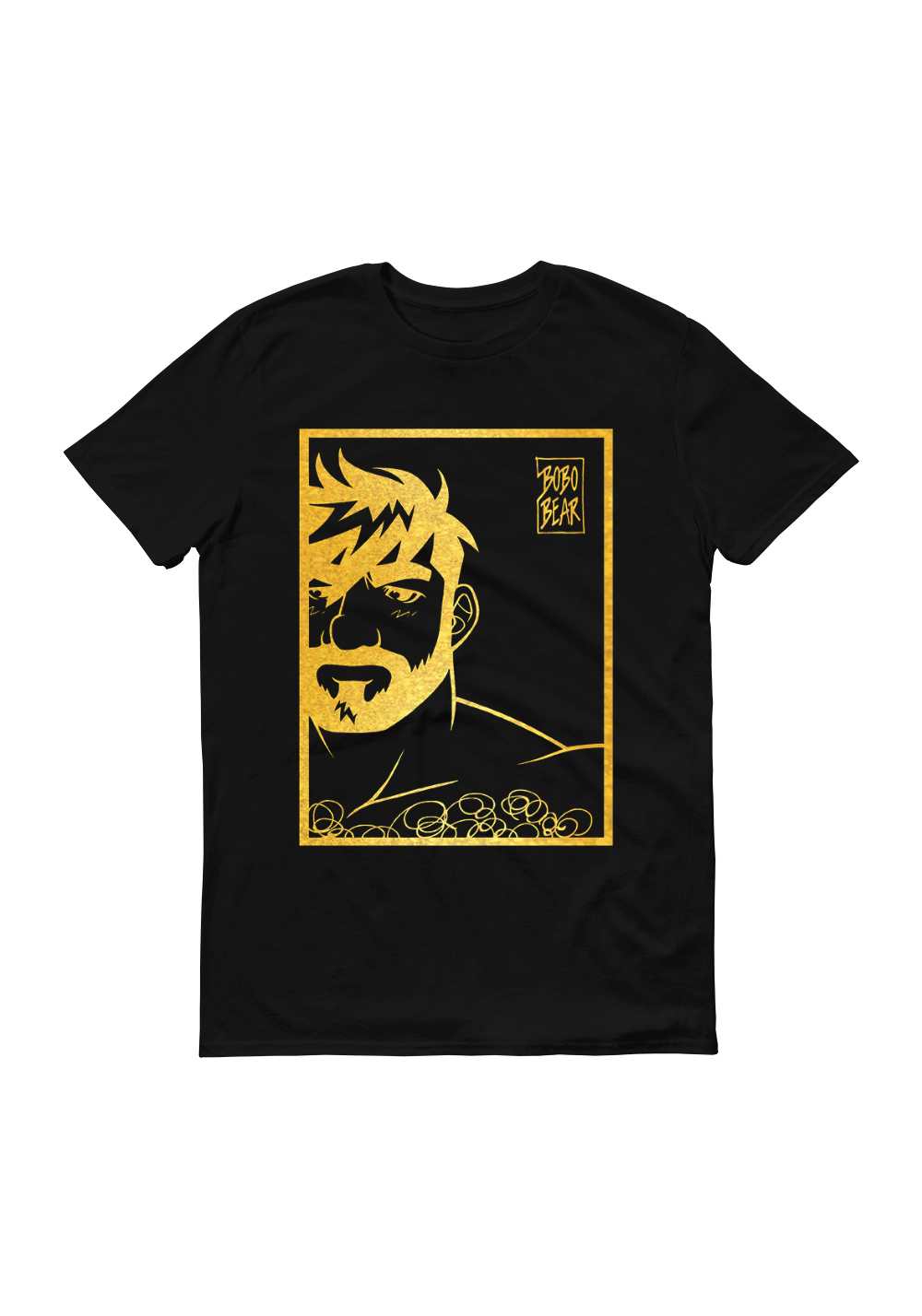 Bobo Bear Shirt Adam likes Black & Gold