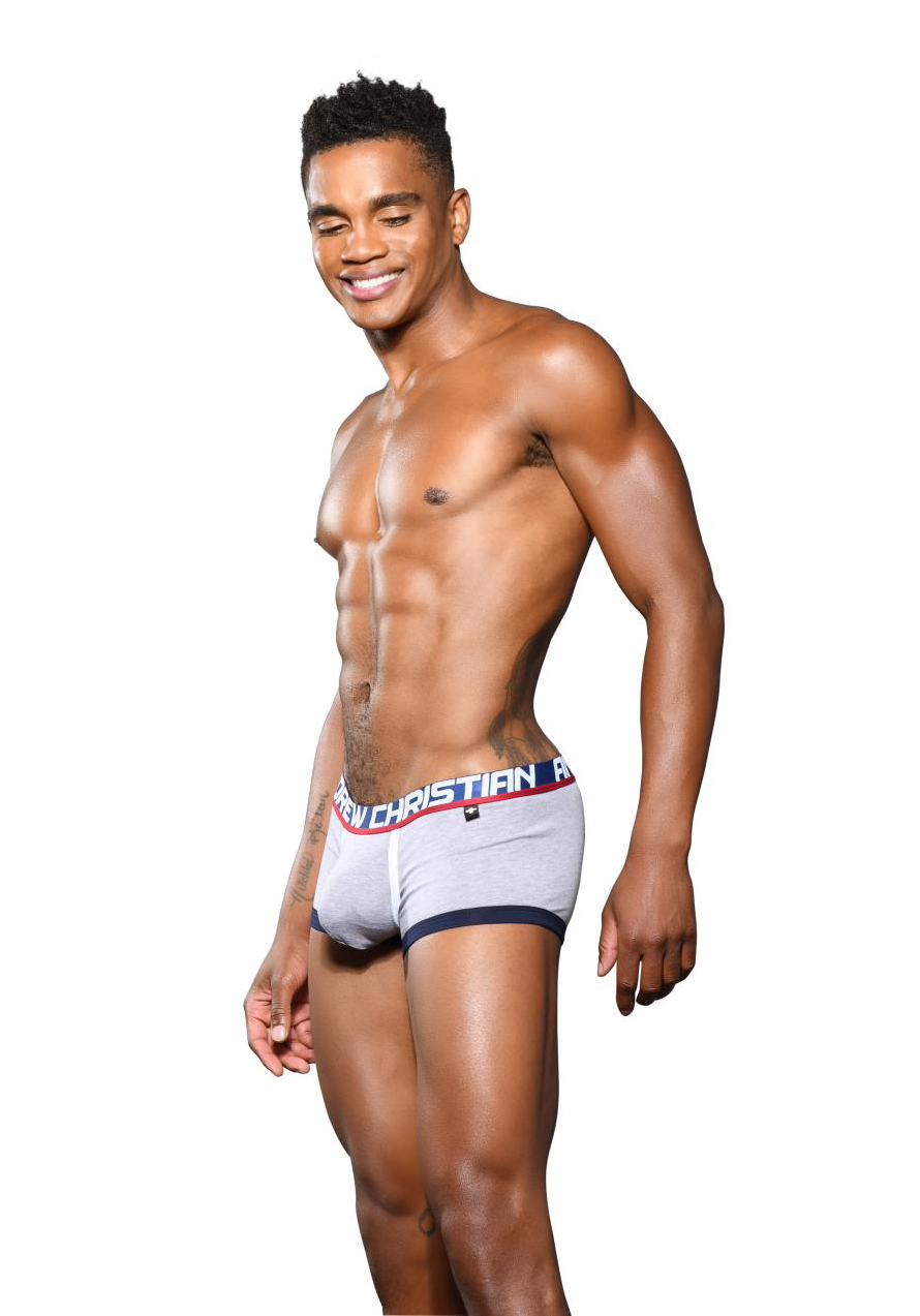 Andrew Christian Fly Tagless Boxer | Heather Grey
