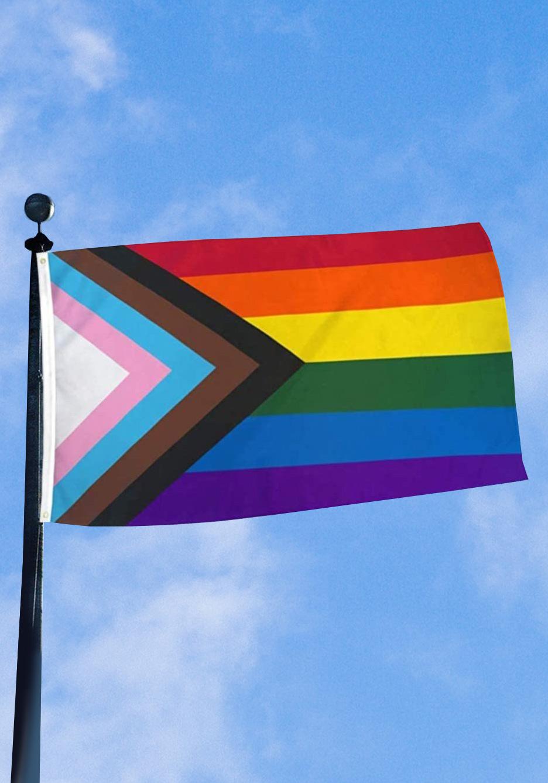 Regenbogen Progress Pride Flagge 90 x 150 cm